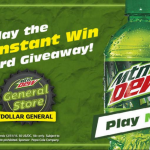 Thumbnail image for Play to WIN with Dollar General & Mountain Dew (1000 Winners!!)