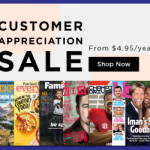 Thumbnail image for Discount Mags Customer Appreciation Sale | Starting at $4.95 per Year