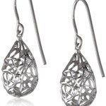 Thumbnail image for Sterling Silver Pear Dangle Filigree Earrings for $9.65