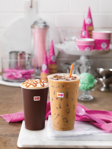 Baskin Robbins Flavored Hot Latte and Iced Coffee Vertical Lifestyle