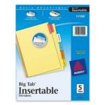 Thumbnail image for Avery Big Tab Insertable Dividers for $0.99