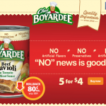Thumbnail image for Chef Boyardee at Walmart for just $0.80 each!