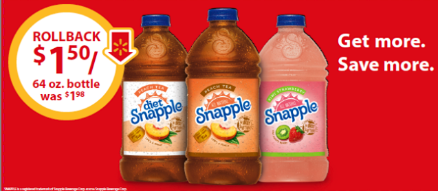 snapple deal at walmart