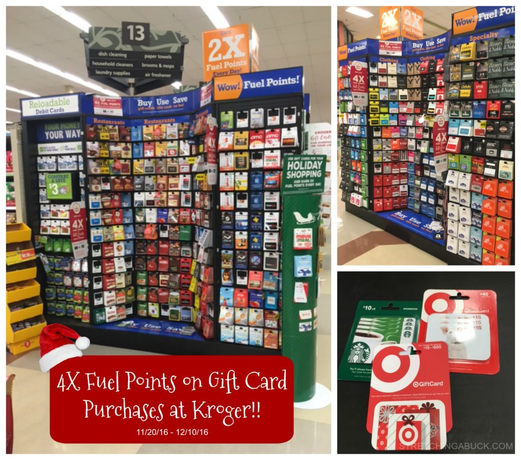 Earn 4X Fuel Points On Gift Card Purchases At Kroger, For