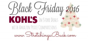 2016 Kohls Black Friday Ad Deals