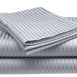 Thumbnail image for Queen Silver Sateen Striped Sheet Set for $15.99
