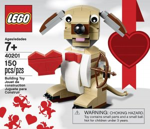 lego cupid dog