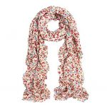 Thumbnail image for Elegant Cherry Blossom Floral Chiffon Scarf for $6.99 Shipped
