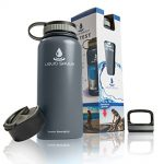 Thumbnail image for 32 oz Insulated Stainless Steel Water Bottle with 3 lids for $19.95