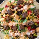 Thumbnail image for Bacon Cheeseburger Salad with Thousand Island Dressing