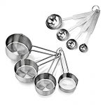 Thumbnail image for Stainless Steel 8 Piece Measuring Cups and Spoons Set for $7.95