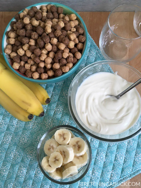 Peanut Butter Cup and Yogurt Parfait with Bananas Recipe