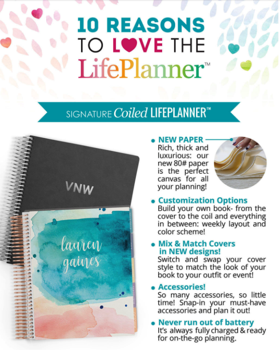Erin Condren 2018 Life Planner Review