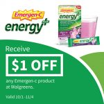 Thumbnail image for Save $1 on Emergen-C® Energy+ at Walgreens!