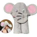 Thumbnail image for Children's Hooded Gray Elephant Bath Towel and Washcloth Set for $15.99
