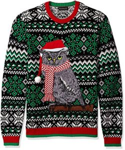 Blizzard Bay Mens Festive Owl Ugly Christmas Sweater For 1799