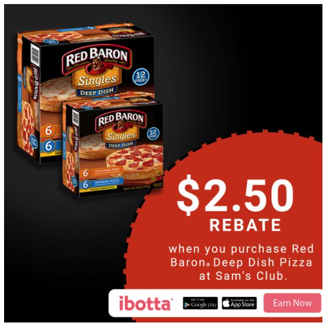 Earn $2.50 on Red Baron® Deep Dish Singles at Sam'…