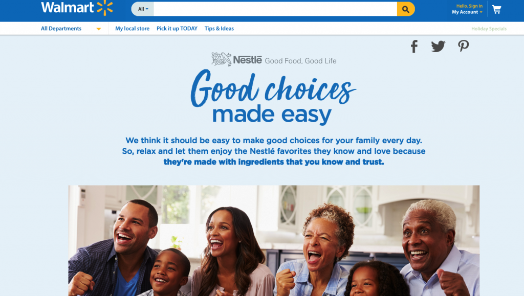 Good Choices Made Easy with Nestlé and Walmart!