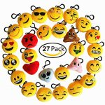 Thumbnail image for 27 Pack Emoji Keychains Party Favors for $11.99