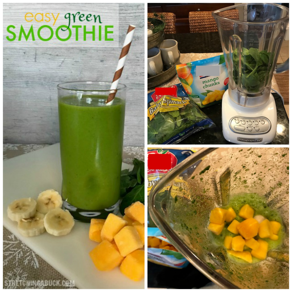Easy Green Smoothie Collage