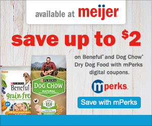 Save up to $2 on Purina Products at Meijer!