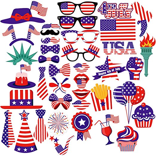 Thumbnail image for 4th of July Photo Booth Pros 40-Piece Set for $13.99