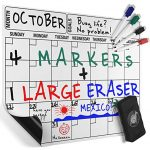 Thumbnail image for Magnetic Dry Erase Calendar Board with Markers for $9.97