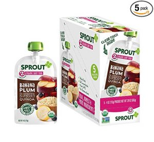Sprout Organic Banana Plum Blueberry Quinoa Pouches For 0