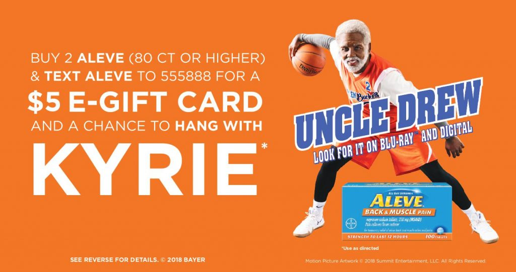 $5 Aleve Rebate + Chance to Hang with Kyrie!
