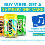 Thumbnail image for Buy Trident VIBES® Gum at Walmart, Get a $5 iTunes Gift Card!