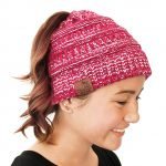 Thumbnail image for Messy Bun Ponytail Knit Beanie for $8.98