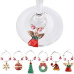 Thumbnail image for Wine Glass Ring Christmas Charms  | 12-Piece Set for $11.99