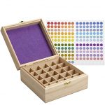 Thumbnail image for Wooden Essential Oil Storage Box with Labels for $17.99