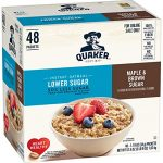 Thumbnail image for Quaker Lower Sugar Maple & Brown Sugar Oatmeal Packets for $0.21 Each Shipped