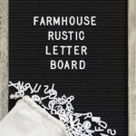Thumbnail image for 12×17 Felt Letter Board with Rustic Wood Frame + Letters for $26.48 Shipped