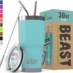 Thumbnail image for BEAST 30 oz Insulated Tumbler with Lid, 2 Straws and Brush for $23.99