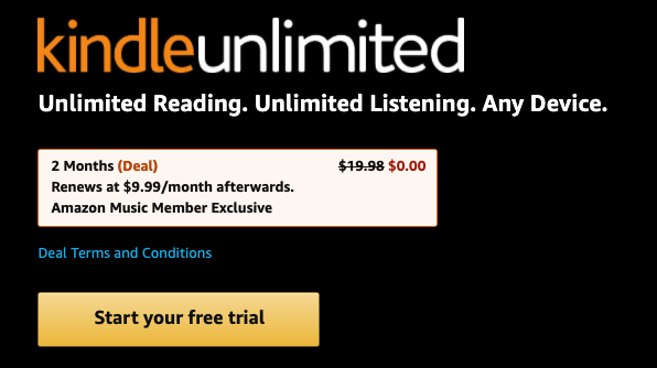 Free Kindle Unlimited Trial